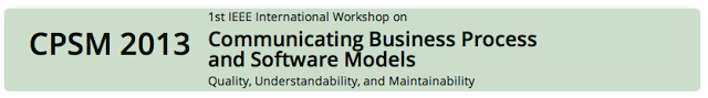 1st IEEE International Workshop on Communicating Business Process and Software Models. Quality, Understandability, and Maintainability